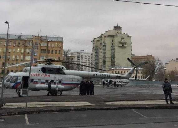 """Вертолёт Медведева на """"Бауманской"""" перепугал соцсети »"""
