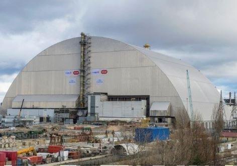 Четвёртый энергоблок Чернобыльской АЭС был покрыт защитной аркой »