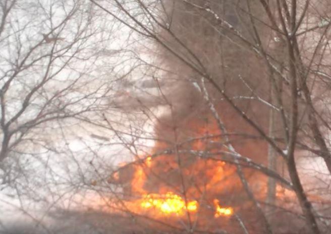 В центре Луганска неизвестные взорвали автомобиль »