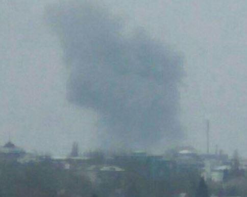 В Донецке произошел сильный взрыв »