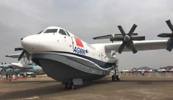 Самолет-амфибия AG600 впервые поднимется в небо в середине мая
