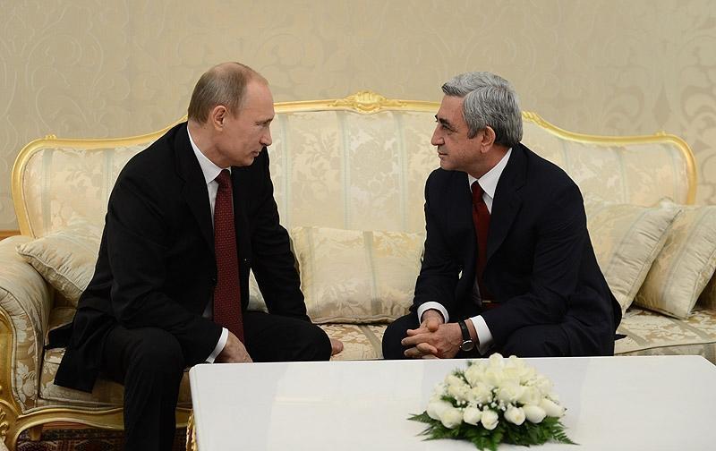 Путин отметил хорошее взаимодействие России и Армении