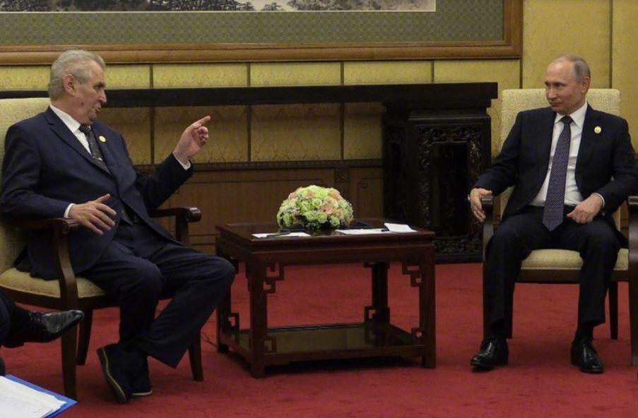 Путин пошутил о курении Лаврова на переговорах с президентом Чехии