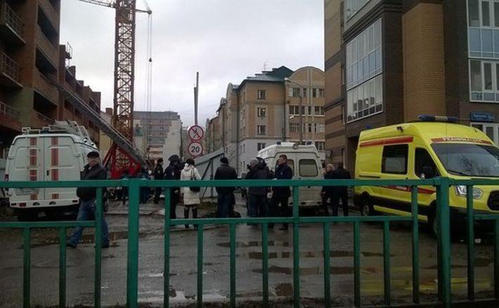 В Саранске обрушился новострой, есть жертвы