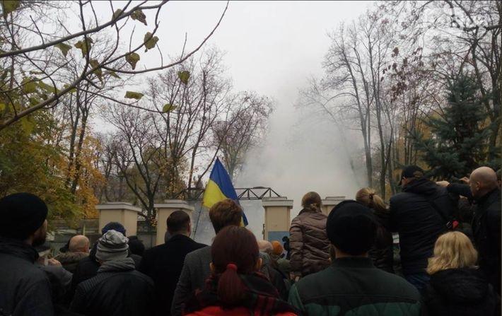 Массовое столкновение произошло в Одессе между активистами и полицией