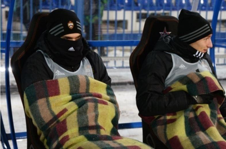 Швед из ЦСКА едва выдержал 20-градусный мороз на матче