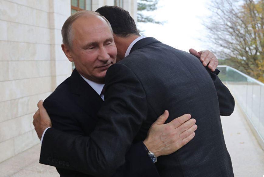 Госдеп прокомментировал снимок обнимающихся Путина и Асада