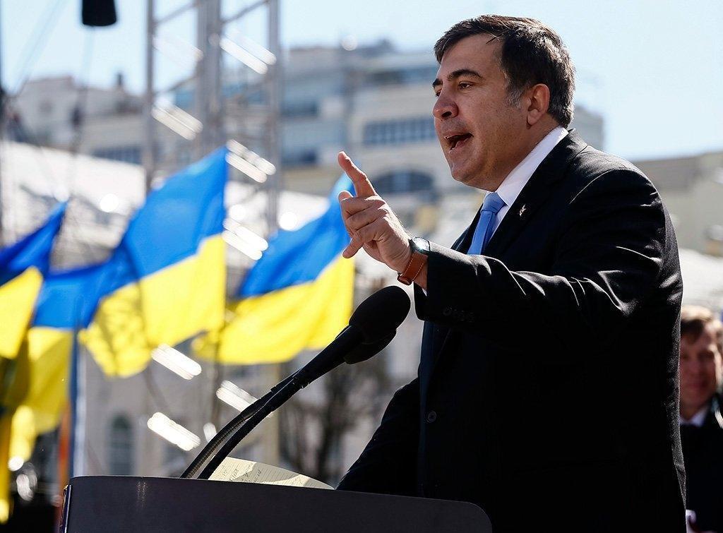 Саакашвили призвал украинцев избавиться от президента Порошенко