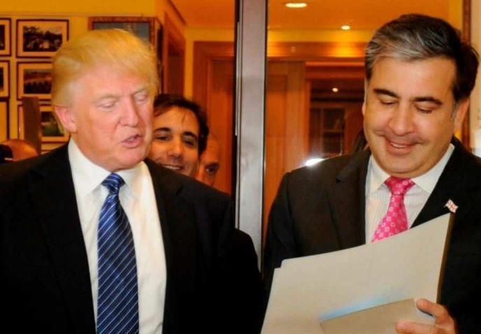 Трамп связывается с Саакашвили и готов дать триллион долларов на изменение Украины