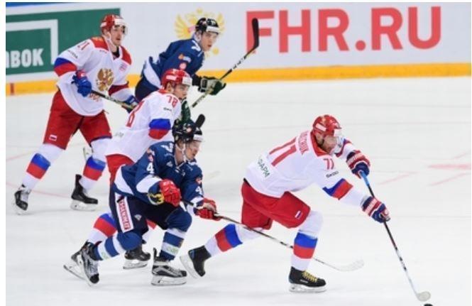 Российские хоккеисты смогли победить Финляндию