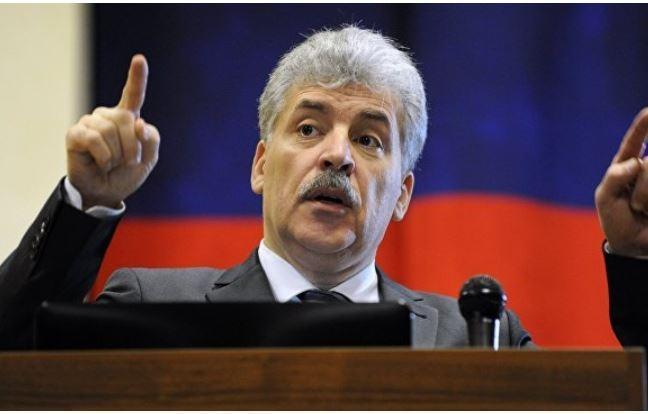 Грудинин сообщил, что в случае избрания признает ЛНР и ДНР