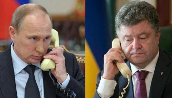 Путин и Порошенко провели телефонный разговор