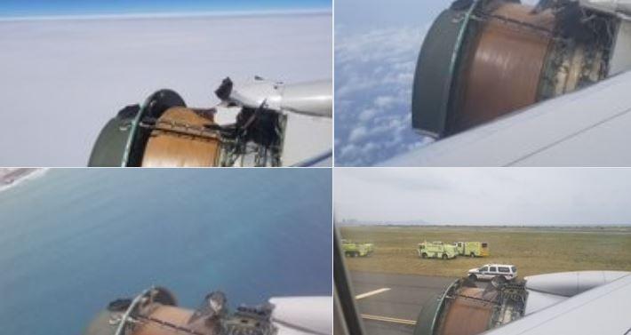 Двигатель Boeing разрушился в ходе полета над Тихим океаном