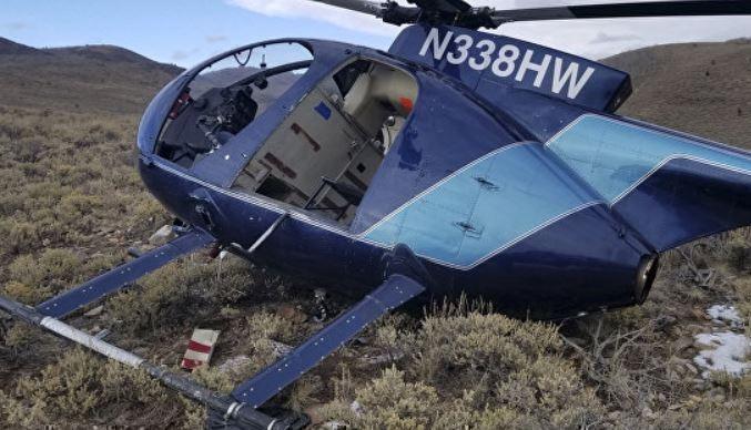 В Штатах вертолет столкнулся с лосем