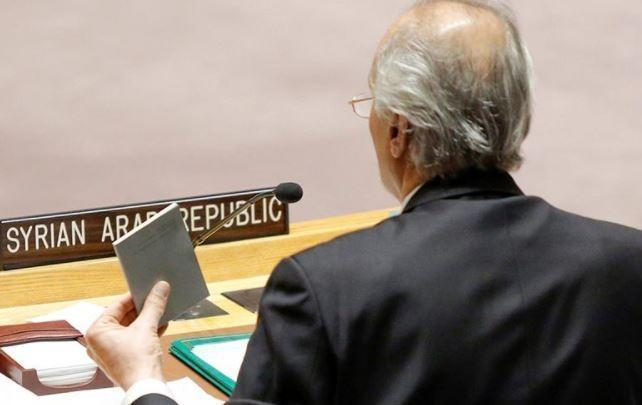 Сирийский посол принес копии Устава ООН для Америки и ее союзников на заседание Совбеза