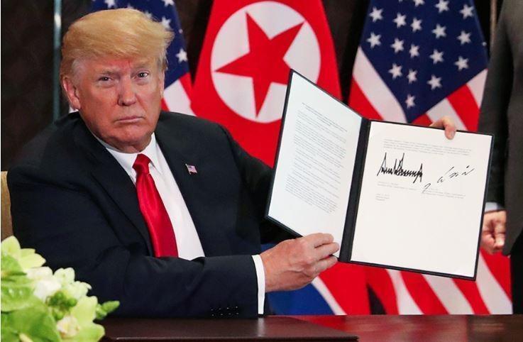 СМИ узнали содержание подписанного Трампом и Ким Чен Ыном соглашения