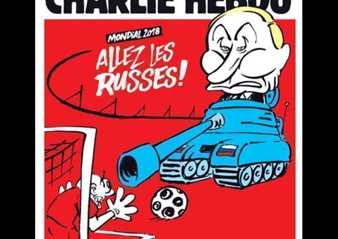 Путин на танке оказался на обложке Charlie Hebdo