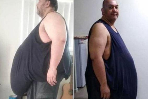 Мечтающий объесться до смерти мужчина сбросил 100 килограммов