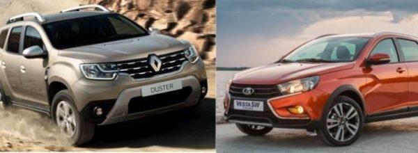 Сравнение автомобилей Веста СВ и Дастер