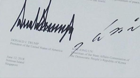 CNN решил узнать характеры Ким Чен Ына и Трампа по их подписям