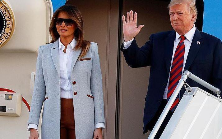 Меланья Трамп не снимала пальто в 30-градусную жару в Хельсинки