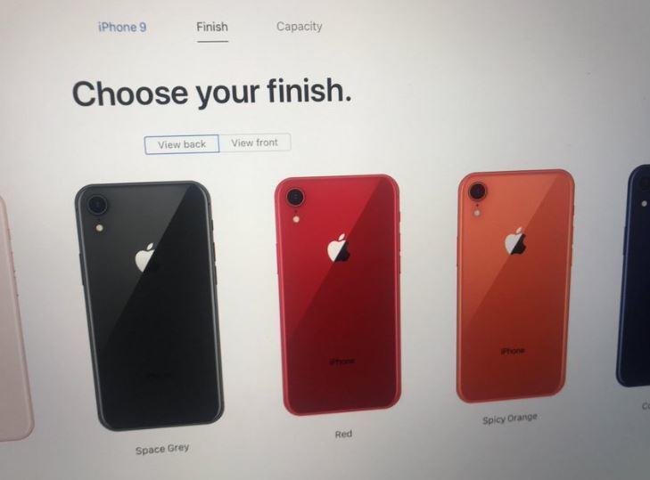 Информацию о iPhone 9 случайно разместили на сайте Apple