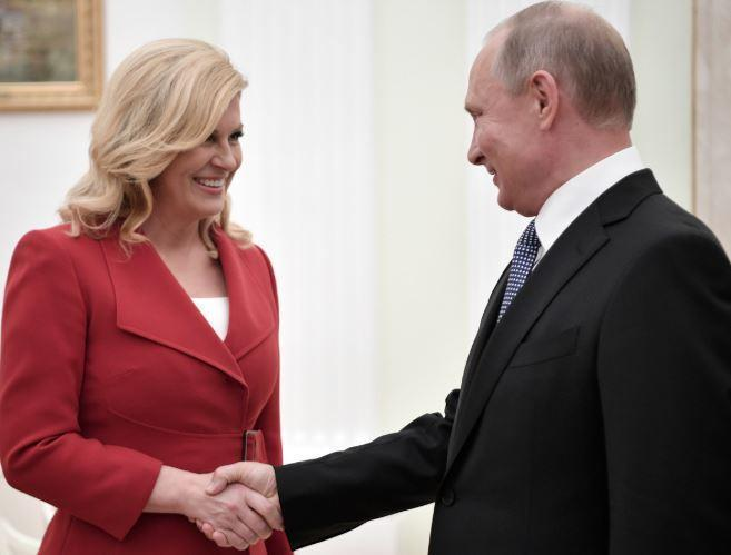 Президент Хорватии призналась, за кого болел Путин в финале ЧМ-2018