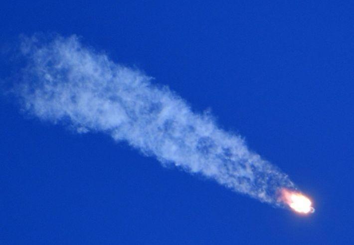 Во время старта ракеты