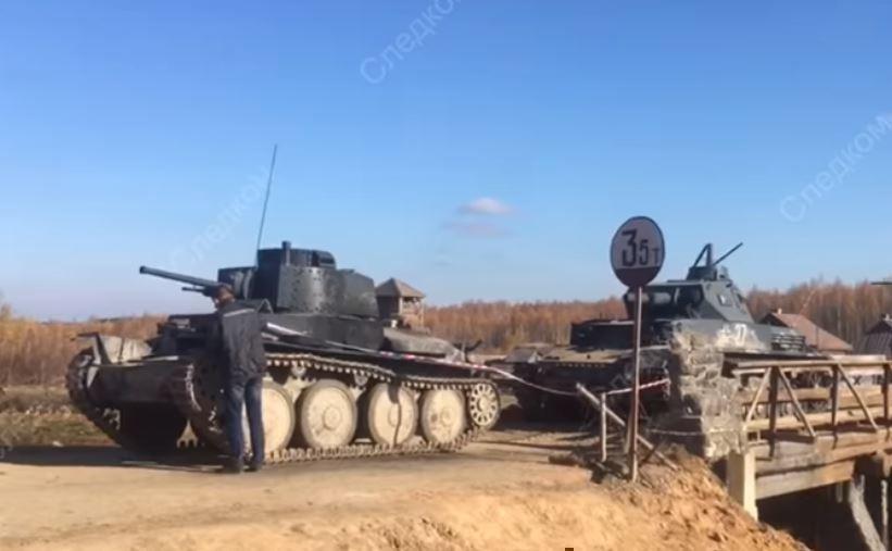 Каскадёр погиб под танком во время съемок картины c Безруковым