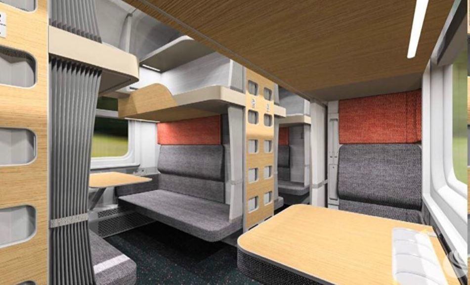 Появились фотографии, как будут выглядеть новые плацкартные вагоны РЖД