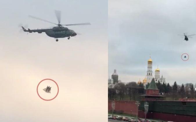 Появилась информация о том, почему над Кремлем летали вертолеты (видео)
