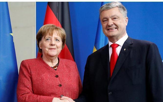 Меркель пояснила визит Порошенко и отсутствие приглашения Зеленскому