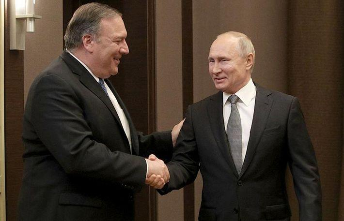 Путин на встрече с Помпео заявил о стремлении РФ восстановить отношения с США