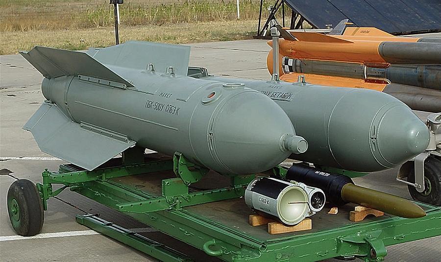 В Сирии применили российскую противотанковую авиабомбу РБК-500 СПБЭ. Видео