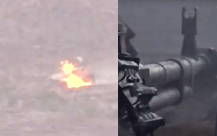 В Интернете показали на видео, как старый советский пулемет уничтожил броневик США