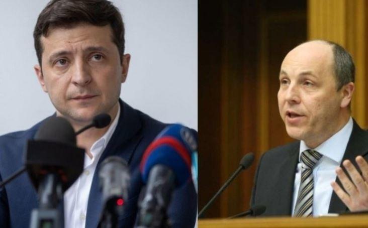 Зеленский обвиняет спикера Рады в преступном бездействии