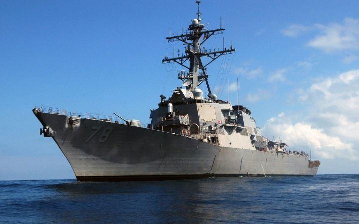 Американский ракетный эсминец идет в Черное море