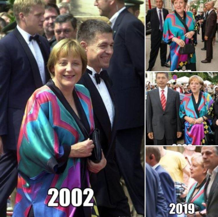 Меркель была замечена в наряде, купленном более двадцати лет назад