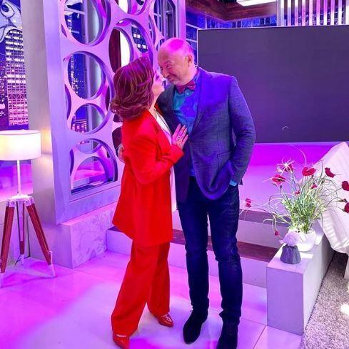Разведенная Степаненко пококетничала с Гальцевым на съемках своего шоу 2