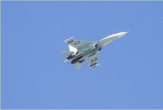 Российский Су-27 перехватил истребитель ВВС Германии над Балтийским морем